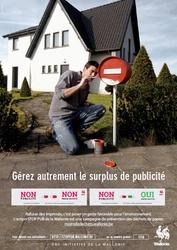 La Wallonie met des autocollants « STOP PUB » à la disposition des communes et des particuliers