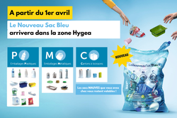 HYGEA : Le Nouveau Sac Bleu débarque dans la zone Hygea dès le 1er avril !